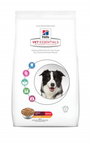 Hills VetEssentials Adult Medium, Kylling, 10kg