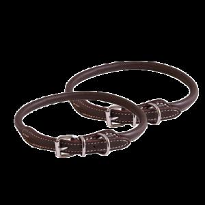 KW Walker Rundsyet Halsbånd Brun, 0,8x45 cm