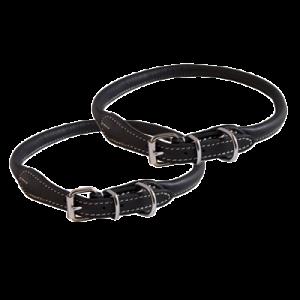 KW Walker Rundsyet Halsbånd Sort, 0,6x40 cm