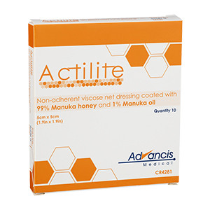 Actilite Viscose Net, 5x5 cm, 10 stk