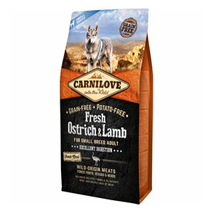 Carnilove Dog Small Breed, Ostrich & Lamb, 6 kg