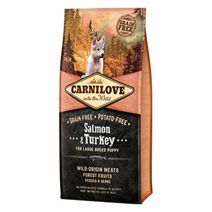 Carnilove Puppy Large Breed, Salmon & Turkey, 12kg