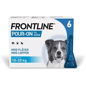 Frontline Pour-On Hund, 10-20 kg, 6 stk.