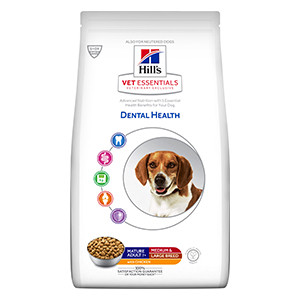 Hill's VET ESSENTIALS DENTAL HEALTH Mature Adult Medium & Large Breed hundefoder med kylling