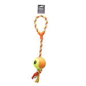 Hundelege Reb med Tennisbold, XL