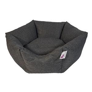 KW krone hundeseng grå