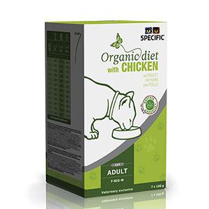 Specific F-BIO-W Organic Diet, Vådfoder Kat chicken