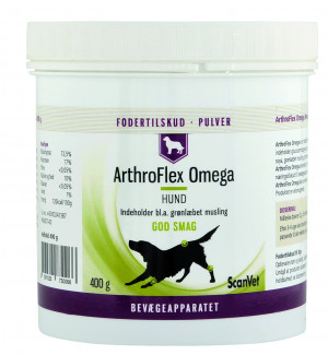 ArthroFlex Omega Hund 400 g. Pulver