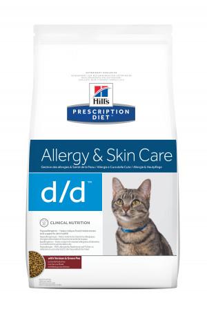 Hill's Prescription Diet Feline d/d, Duck & Green Pea, 1,5 kg