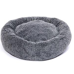 KW Fluffy Donut Hundeseng, Ø 60cm, Grå