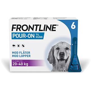 Frontline Pour-On Hund, 20-40 kg, 6 stk