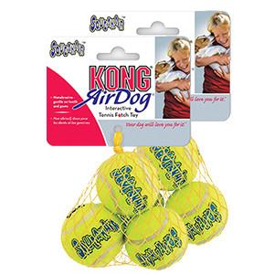 KONG AirDog Squeaker tennisbolde 3 stk, S